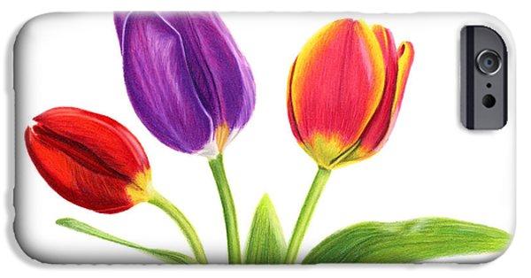 Tulip Trio IPhone 6s Case by Sarah Batalka