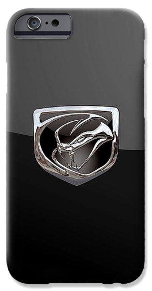 Dodge Viper - 3d Badge On Black IPhone 6s Case