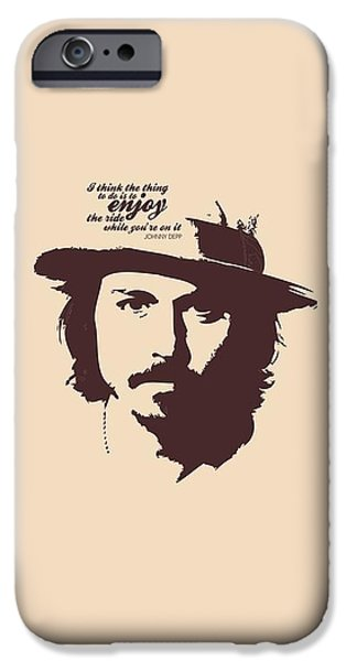 Johnny Depp Minimalist Poster IPhone 6s Case by Lab No 4 - The Quotography Department