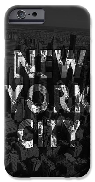 Office Buildings iPhone 6s Case - New York City - Black by Nicklas Gustafsson