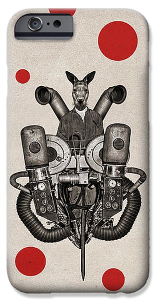 Kangaroo iPhone 6s Case - Animal2 by Francois Brumas