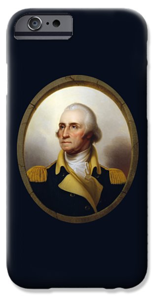 Politicians iPhone 6s Case - General Washington - Porthole Portrait  by War Is Hell Store
