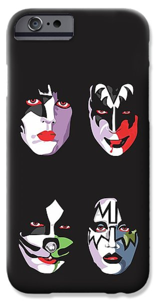 Music iPhone 6s Case - Kiss by Troy Arthur Graphics