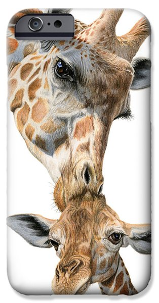 Mother And Baby Giraffe IPhone 6s Case by Sarah Batalka