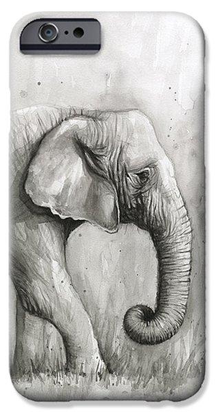 Elephant Watercolor IPhone 6s Case