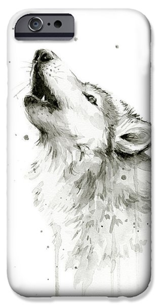 Howling Wolf Watercolor IPhone 6s Case