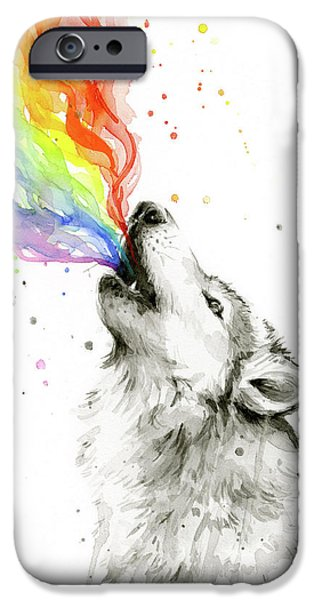 Wolf Rainbow Watercolor IPhone 6s Case