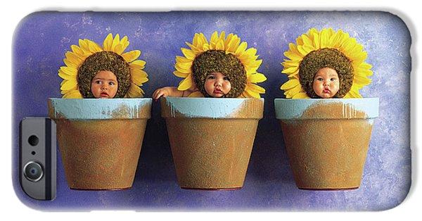 Sunflower iPhone 6s Case - Sunflower Pots by Anne Geddes