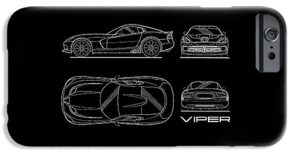 Srt Viper Blueprint IPhone 6s Case by Mark Rogan