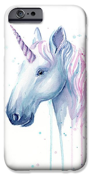 Magician iPhone 6s Case - Cotton Candy Unicorn by Olga Shvartsur