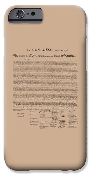 The Declaration Of Independence IPhone 6s Case by War Is Hell Store
