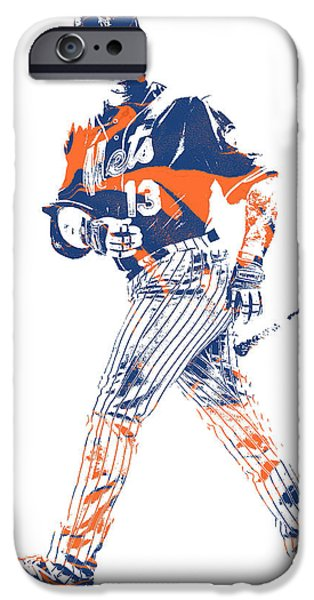 New York Mets iPhone 6s Case - Asdrubal Cabrera New York Mets Pixel Art 1 by Joe Hamilton