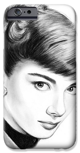 Audrey Hepburn iPhone 6s Case - Audrey Hepburn by Greg Joens
