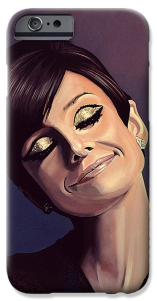 Audrey Hepburn iPhone 6s Case - Audrey Hepburn Painting by Paul Meijering