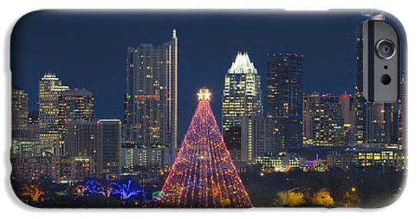 Austin Skyline iPhone 6s Case - Austin Panorama Of The Trail Of Lights And Skyline by Rob Greebon