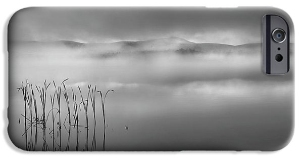 IPhone 6s Case featuring the photograph Autumn Fog Black And White by Bill Wakeley