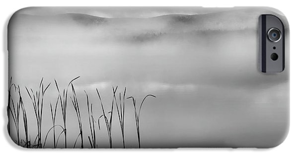IPhone 6s Case featuring the photograph Autumn Fog Black And White Square by Bill Wakeley