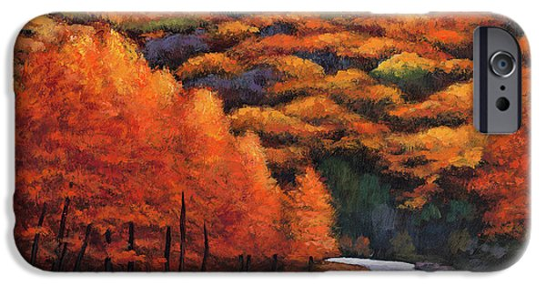 Contemporary Realism iPhone 6s Case - Autumn Stream by Johnathan Harris