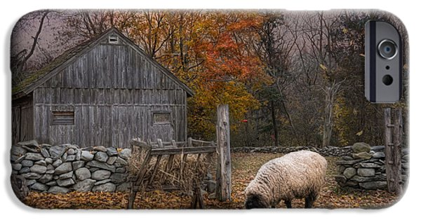 Sheep iPhone 6s Case - Autumn Sweater by Robin-Lee Vieira