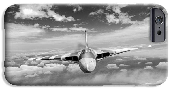 IPhone 6s Case featuring the digital art Avro Vulcan Head On Above Clouds by Gary Eason