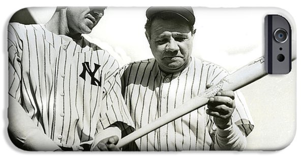 Babe Ruth And Lou Gehrig IPhone 6s Case by Jon Neidert