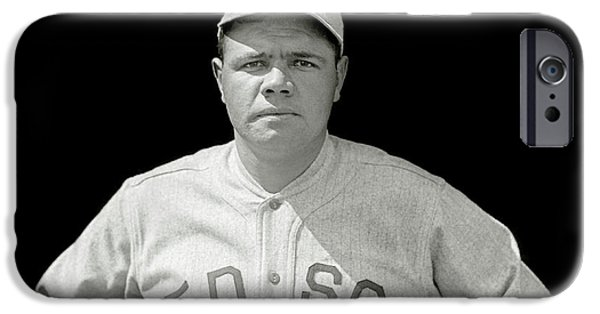 Babe Ruth Red Sox IPhone 6s Case by Jon Neidert
