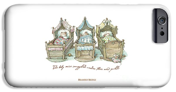 The Brambly Hedge Baby Mice Snuggle In Their Cots IPhone 6s Case