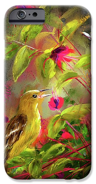 Baltimore Oriole Art- Baltimore Female Oriole Art IPhone 6s Case by Lourry Legarde