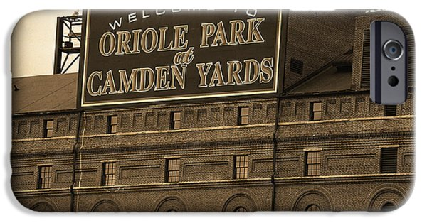 Oriole iPhone 6s Case - Baltimore Orioles Park At Camden Yards Sepia by Frank Romeo