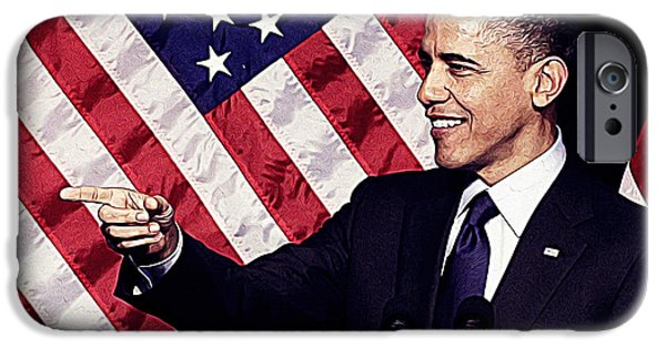 Barack Obama IPhone 6s Case by Iguanna Espinosa