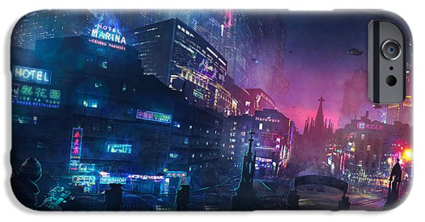 Barcelona iPhone 6s Case - Barcelona Smoke And Neons Sant Pau I La Sagrada Familia by Guillem H Pongiluppi