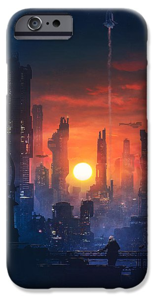 Barcelona iPhone 6s Case - Barcelona Smoke And Neons The End by Guillem H Pongiluppi