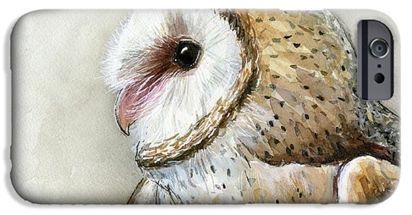 Barn Owl Watercolor IPhone 6s Case