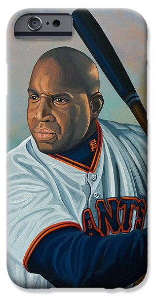 Baseball iPhone 6s Case - Barry Bonds by Paul Meijering