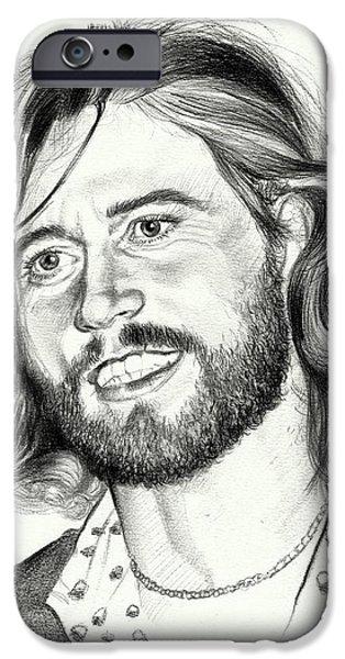 Eric Clapton iPhone 6s Case - Barry Gibb Portrait by Suzann's Art