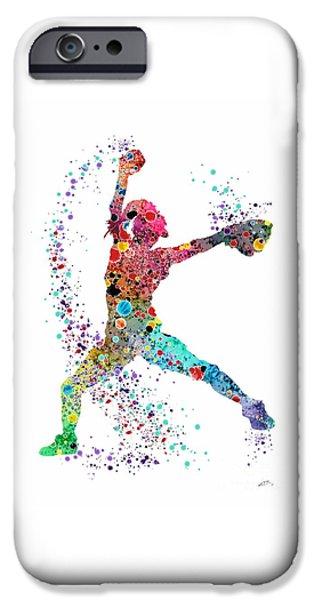 Baseball Softball Pitcher Watercolor Print IPhone 6s Case