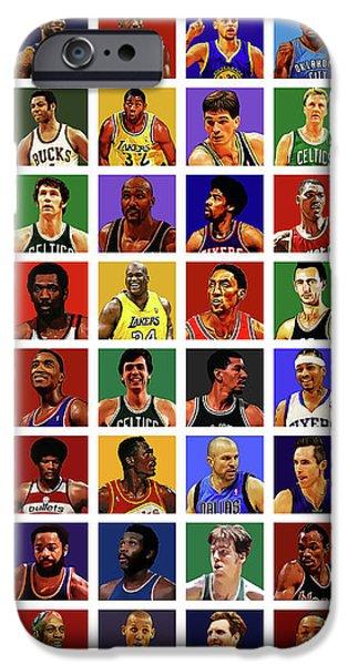 Larry Bird iPhone 6s Case - Basketball Legends by Semih Yurdabak