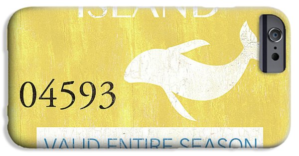 Dolphin iPhone 6s Case - Beach Badge Long Beach Island 2 by Debbie DeWitt