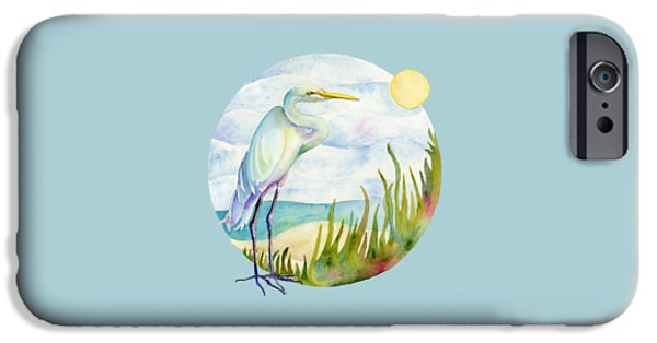 Beach Heron IPhone 6s Case by Amy Kirkpatrick