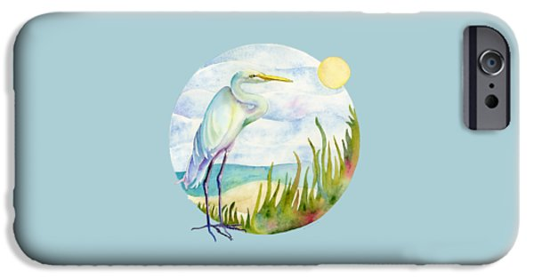 Beach iPhone 6s Case - Beach Heron by Amy Kirkpatrick