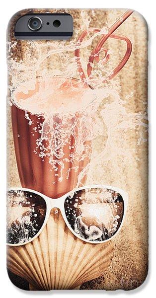 Smoothie iPhone 6s Case - Beach Milkshake With A Strawberry Splash by Jorgo Photography - Wall Art Gallery