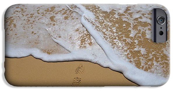 Beach Wave, Footprint And Reset IPhone Case by Angelo DeVal
