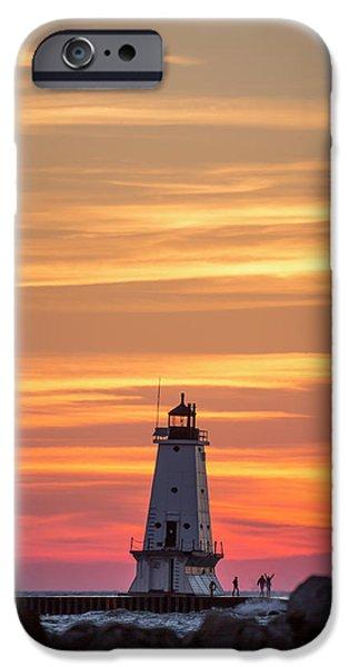 Marquette iPhone 6s Case - Beautiful Ludington Lighthouse Sunset by Adam Romanowicz