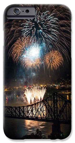 Beaver iPhone 6s Case - Beaver County Fireworks 2 by Emmanuel Panagiotakis