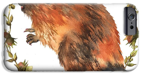 Beaver Painting IPhone 6s Case by Alison Fennell
