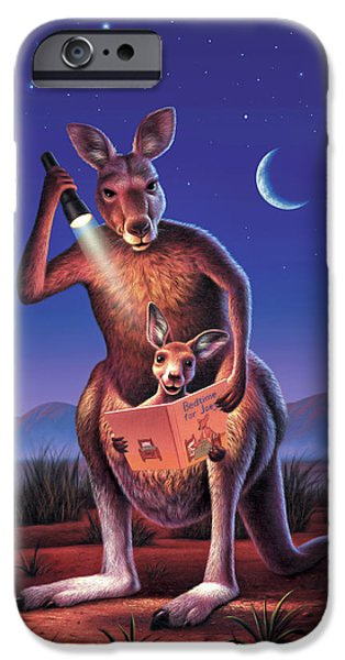 Kangaroo iPhone 6s Case - Bedtime For Joey by Jerry LoFaro