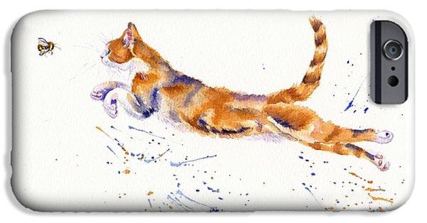 Cat iPhone 6s Case - Bee Airborne by Debra Hall