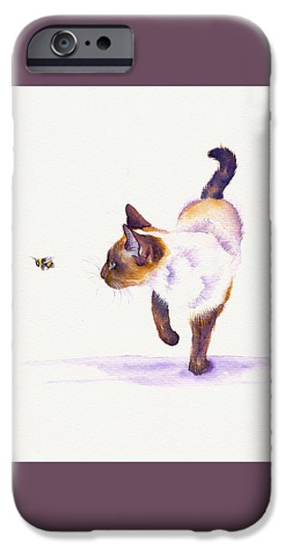 Cat iPhone 6s Case - Bee Free by Debra Hall