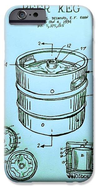 Beer Keg 1994 Patent - Blue IPhone 6s Case by Scott D Van Osdol