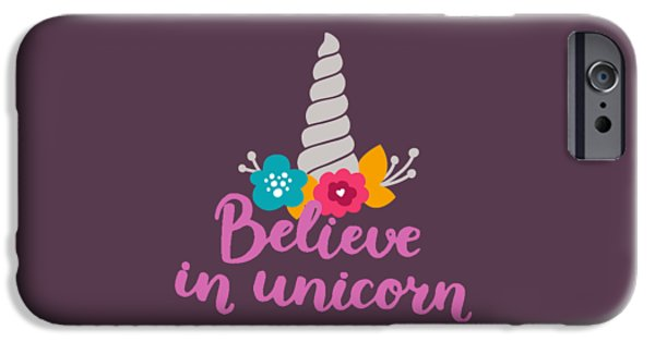 Believe In Unicorn IPhone 6s Case by Edward Fielding